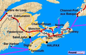 Nova Scotia portion of the Trans-Canada