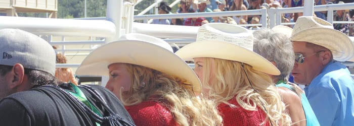 Stampede Rodeo ringside watchers