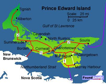 Map Of Pei PEI Map on TransCanadaHighway.com Map Of Pei