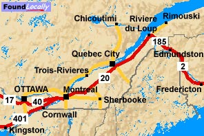 Quebec Map of the Trans-Canada Highway on belgium highway map, seattle highway map, portland highway map, france highway map, japan highway map, england highway map, italy highway map, miami highway map, appalachian mountains highway map, cincinnati highway map, north america highway map, new zealand highway map, romania highway map, portugal highway map, cape breton island highway map, paris highway map, delaware highway map, houston highway map, nashville highway map, bc highway map,