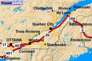 Quebec's route of the Trans-Canada