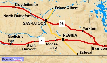 Saskatchewan map of the trans canada highway saskatchewan section of the trans canada gumiabroncs Choice Image