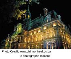 Montreal City Hall at night