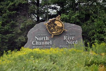 North Channel Sign at Espanola