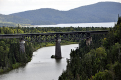 High Railway Bridge between White River and Terrace Bay