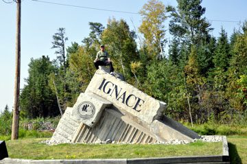 Ignace Welcome Sign