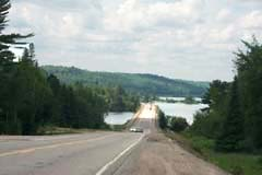 View of Highway 17 along the North of Superior stretch, west of Wawa