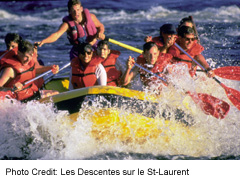 Rafting on the Lachine Rapids