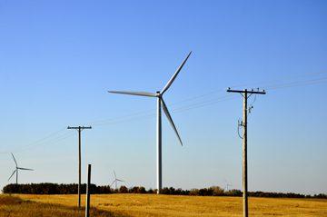 Wind Turbines near Morse, SK