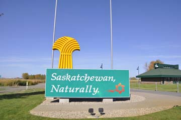 Sign at the Saskatchewan-Manitoba Border